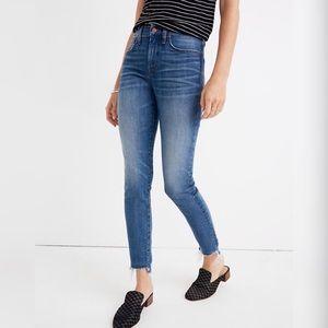 "Madewell 9"" High Rise Skinny Jeans w/ Fray Hem"